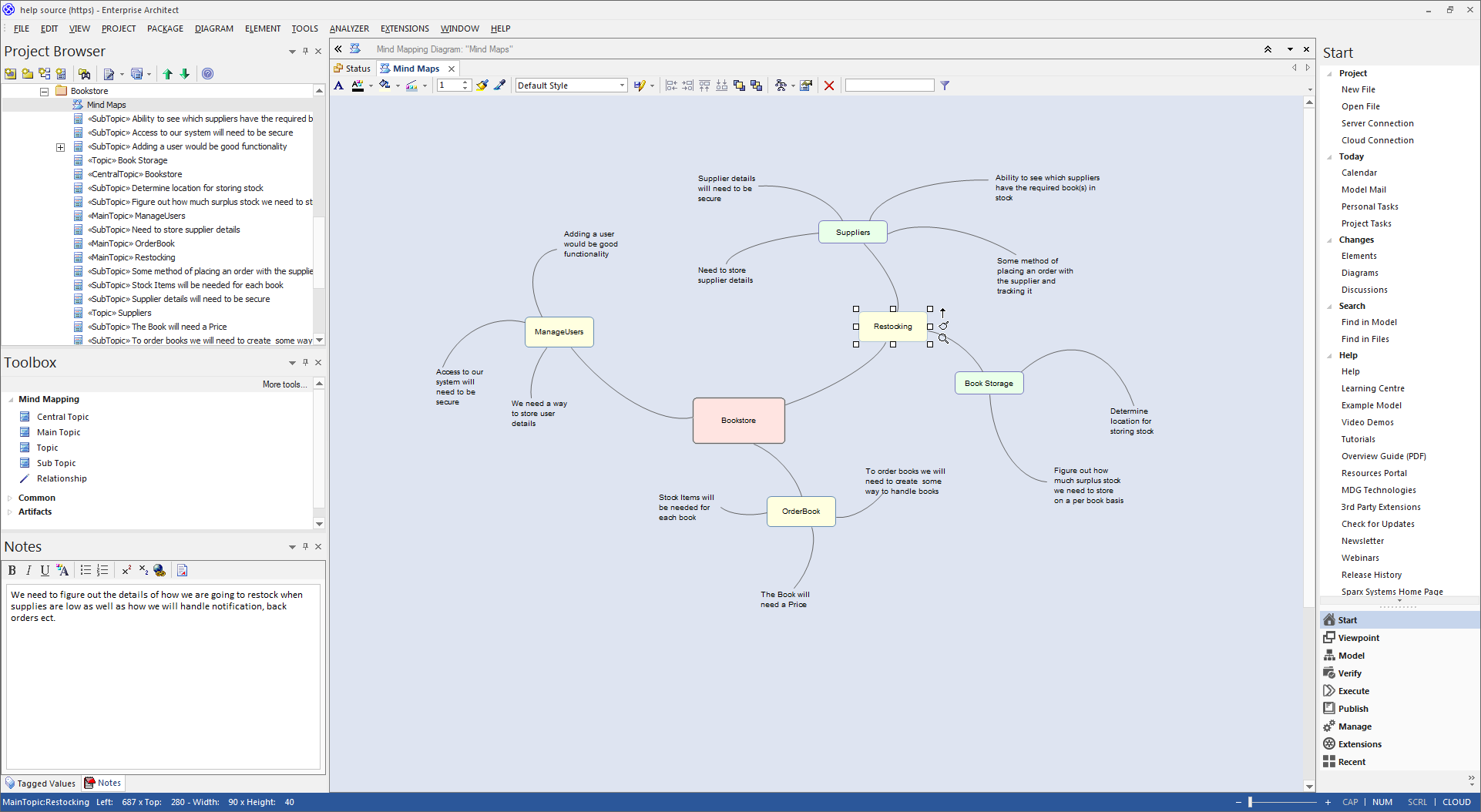 Enterprise Architect Desktop Edition: Mindmapping