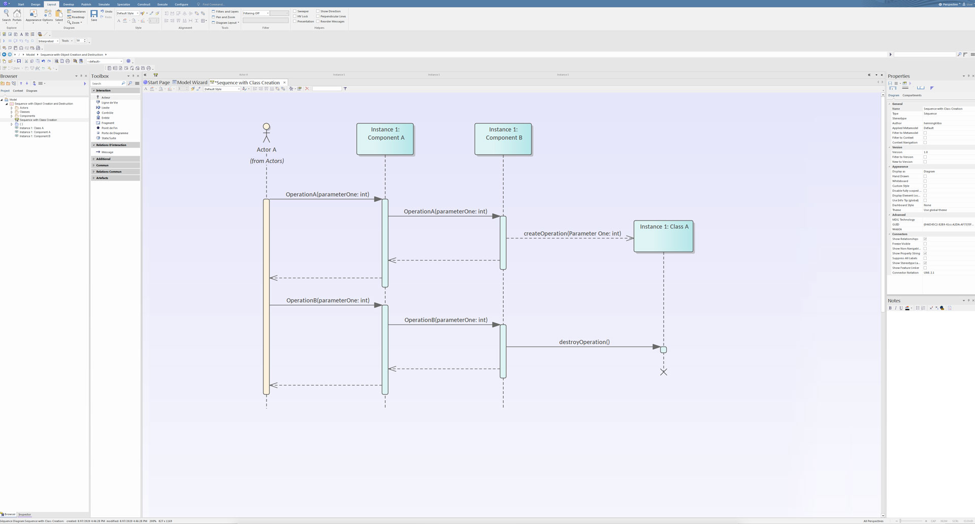 Enterprise Architect Diagramme de Séquence