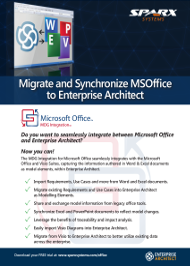 Migrer et synchroniser MSOffice vers Enterprise Architect